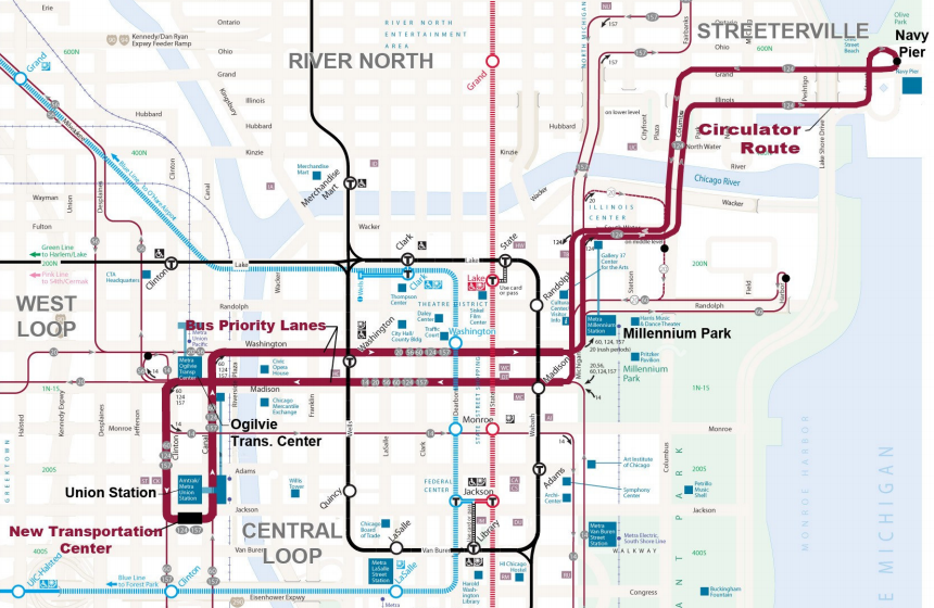 Chicago Commits To Downtown Buses