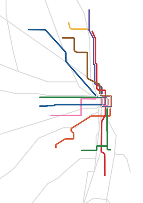 Chicago Subway Map on