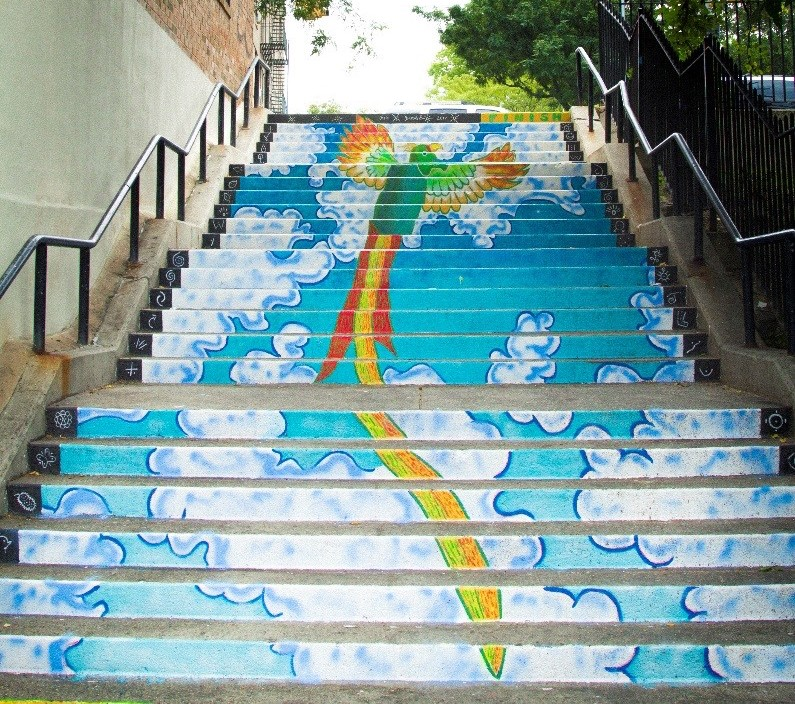 Two New Bronx Murals Encourage Pedestrians To Take The