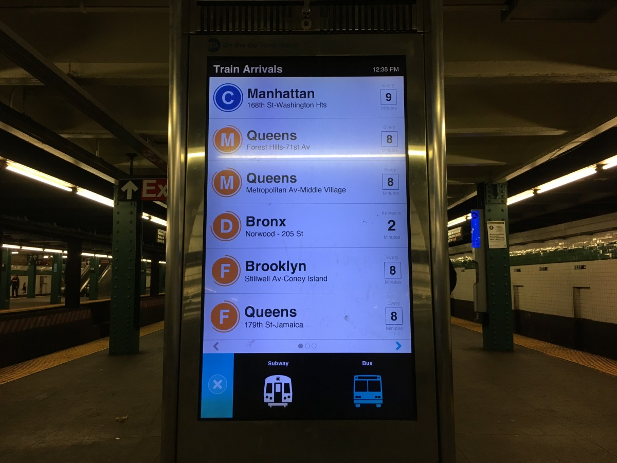 Countdown Clocks What S Real Time Train Info To A New