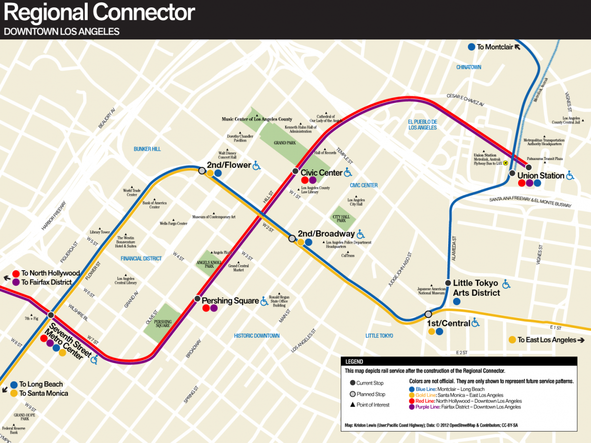 Los Angeles Subway Map New.New Starts Federal Money For La Rail Later Night Philly Subways