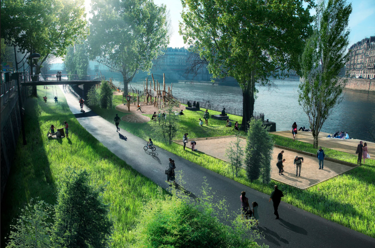 Paris City Council Bans Cars Along Riverbank