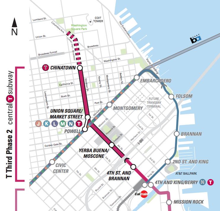 Sf Subway Map Dream.New Starts S F Subway To Fisherman S Wharf Next City