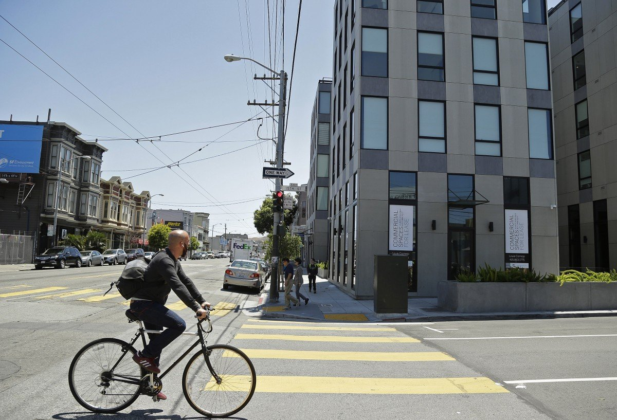 Protesters Line Up for Protected Bike Lane