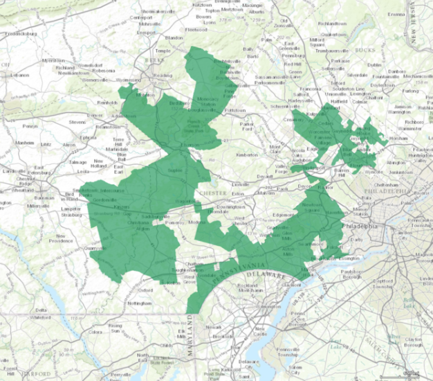 Pennsylvania S 7th Congressional District Among The Most Gerrymandered In The U S Credit One Million Scale Project