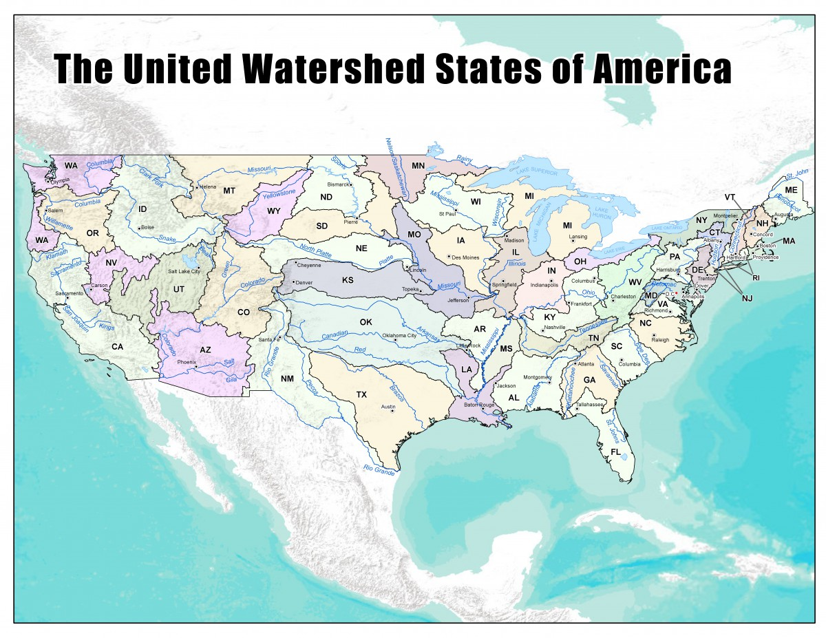 Watershed Map Of Us What If States Had Developed Around Watersheds? – Next City