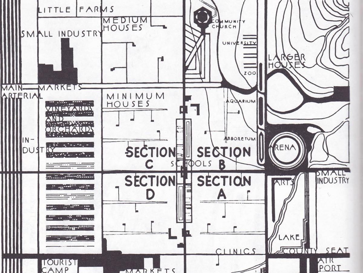 frank lloyd wright s utopian dystopia next city. Black Bedroom Furniture Sets. Home Design Ideas
