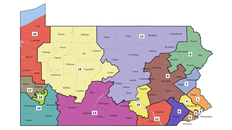 Map Of Pa Cities New Pennsylvania District Map Gives Small Cities More Power – Next