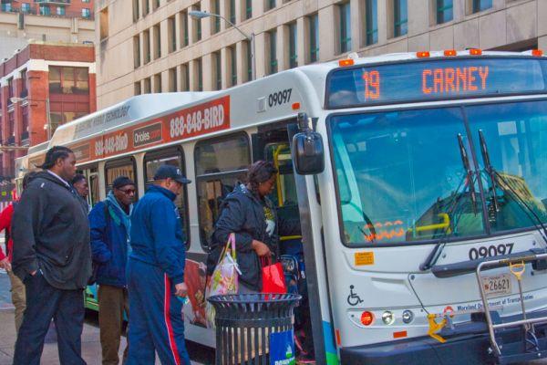 MTA bus in Baltimore