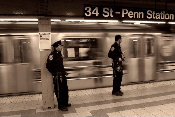 Police on the NY subway