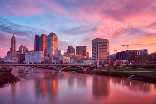 skyline of Columbus, OH