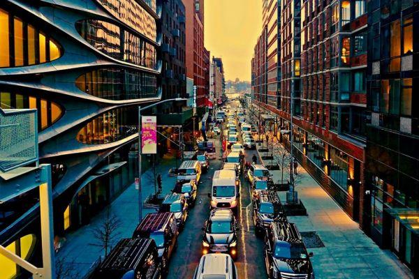 Traffic jam in Chelsea