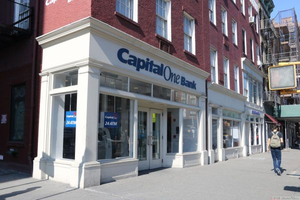 A Capital One bank branch in New York
