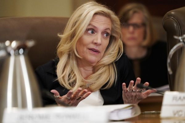 Federal Reserve Governor Lael Brainard speaking in an Oct. 31, 2018 file photo.