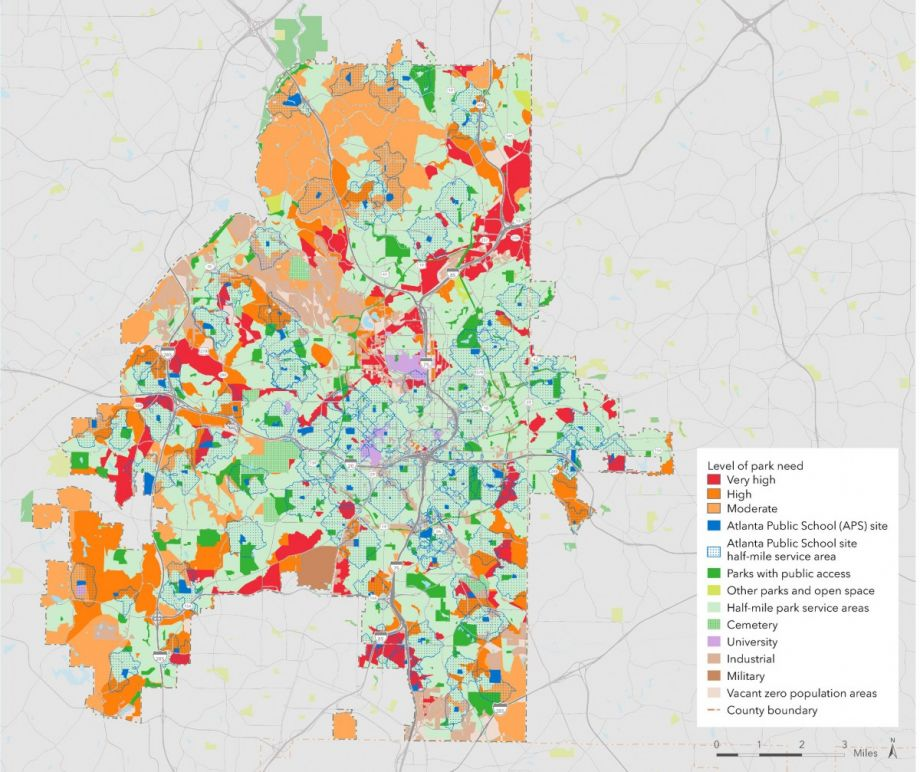 Map Of Georgia Cities Around Atlanta.Atlanta S Schoolyards To Become After Hours Green Space Next City