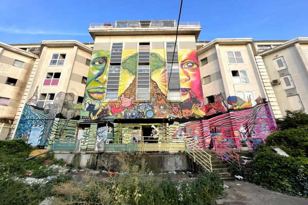 Mural on an abandoned building in Paris
