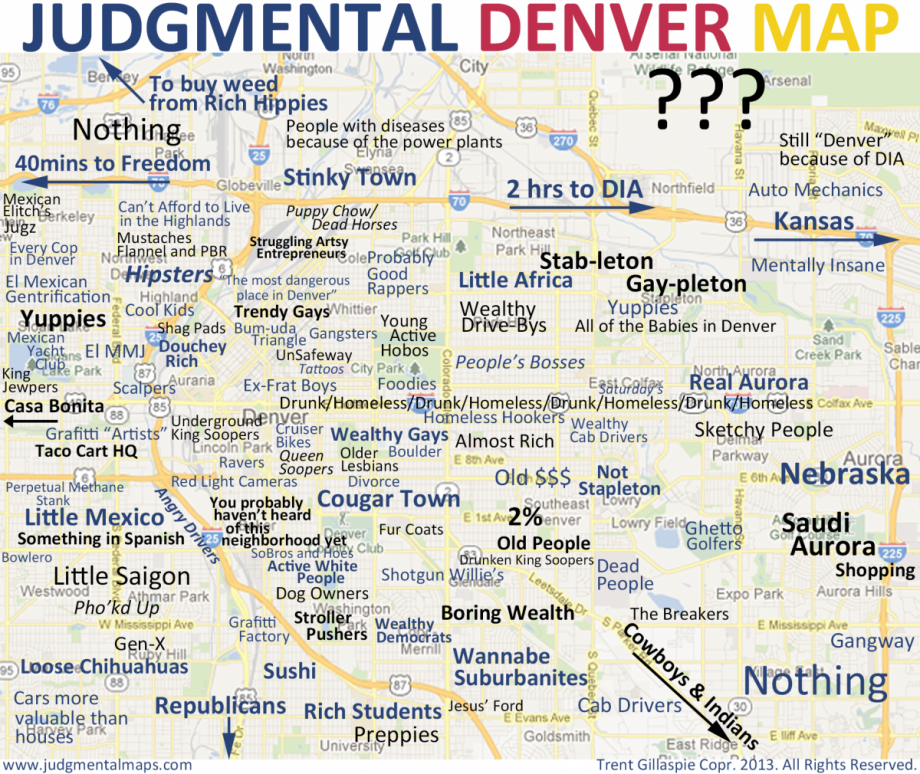 What Goes Into A Judgmental Neighborhood Map  Next City