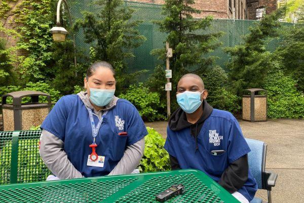 2 teens in their nursing attire
