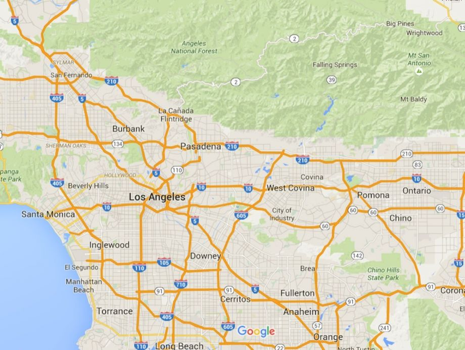 Map Of California 5 Freeway.Mapping A Transportation Plan B On An L A Freeway Next City