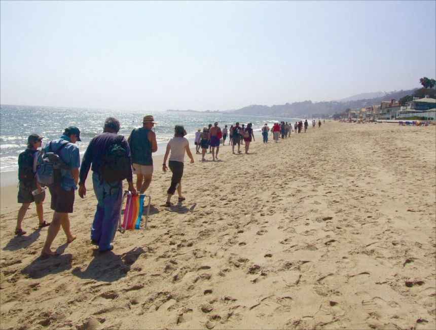 The Los Angeles Urban Rangers Lead A Tour Of Malibu Beaches Credit