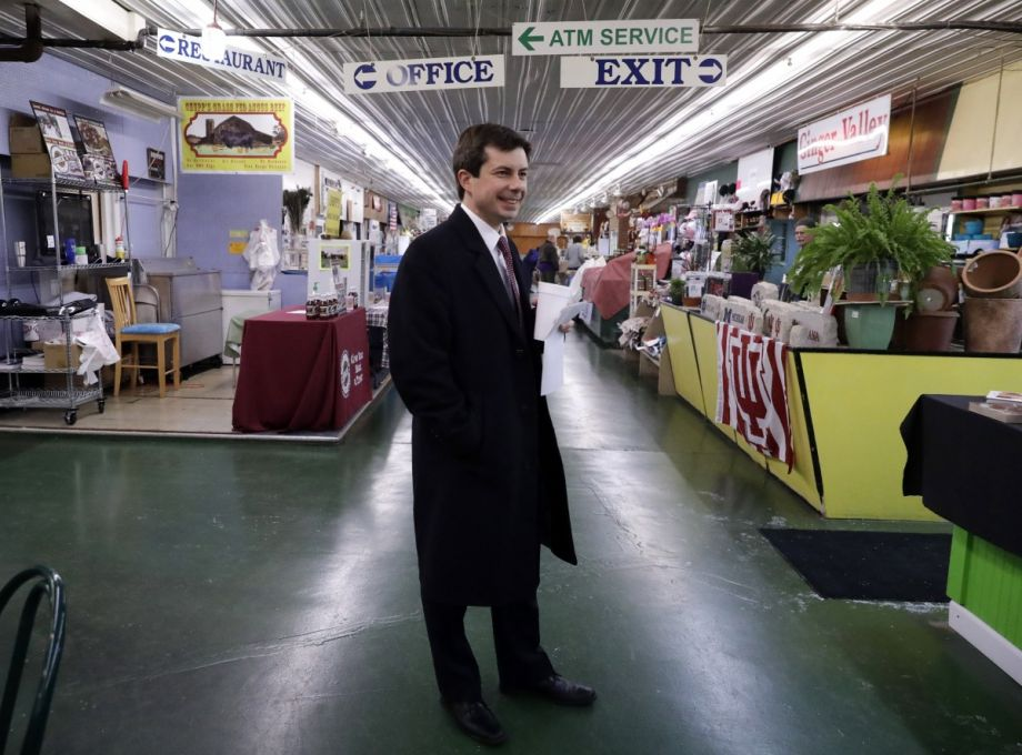 Mayor Pete Buttigieg Walks Around As He Talks With People At Farmers Market In South Bend Ind Thursday Jan 10 2019 37 Is Just A