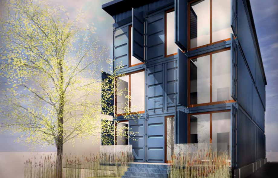 From Sea To Vacant Lot A Shipping Container Condo Rises