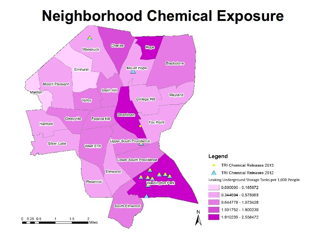 Providence Maps Show Apartheid Lines Of Environmental Racism - Racism map in the us