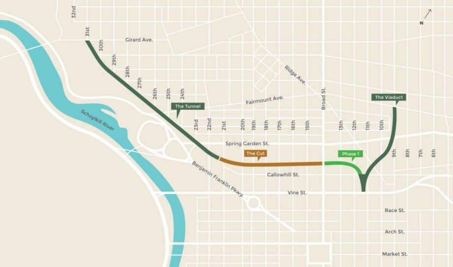 Philadelphia Opens First Phase Of LongAwaited Rail Park Next City - Philly train map