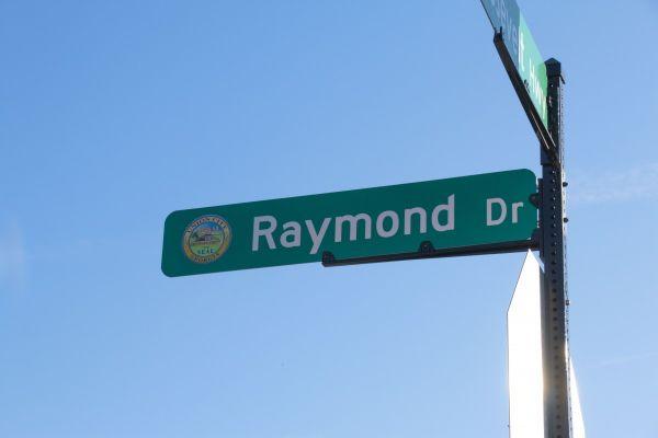 Raymond Drive street sign