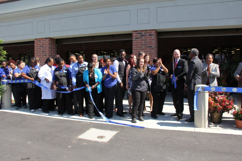 284d1d72 Employees and project partners cut the ribbon at the grand opening ceremony  for a new Kroger along the Atlanta BeltLine. (Credit: The Reinvestment Fund)