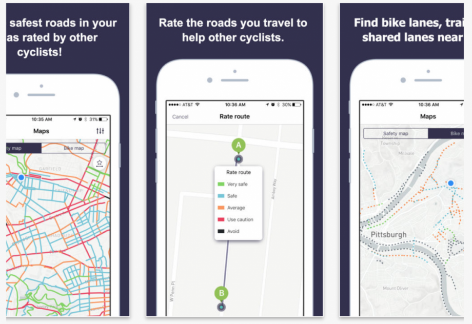 "New App Wants to Be the ""Waze of Cycling"" – Next City Map A Route App on map a run, map a cut, map a drive, map a path, map a course, map a process, map a distance,"