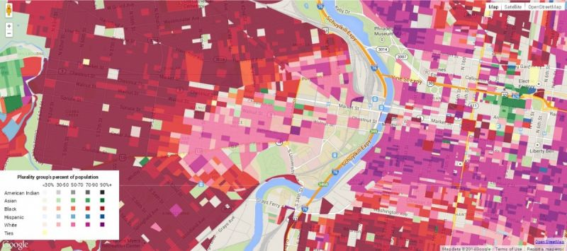Philadelphia Race Map Digital Maps Show Race and Income Data Down to Street Level – Next