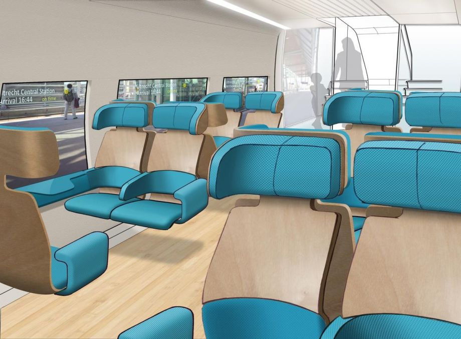 This bus seat design offers a more sustainable ride next for Bus interior designs