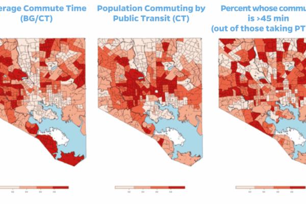 Commute inequities in Baltimore
