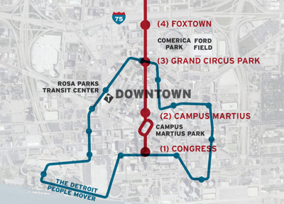 M1 Rail Map Laying the Rails on Woodward Avenue – Next City
