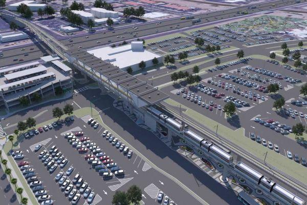 Phoenix light rail rendering