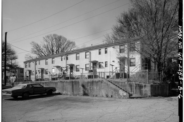The John Hope Homes were bulit in Atlanta in 1940 as the first federally subsidized housing project specifically for Black residnets in the U.S., and was torn down in the year 2000 and replaced with a mixed-income housing complex.