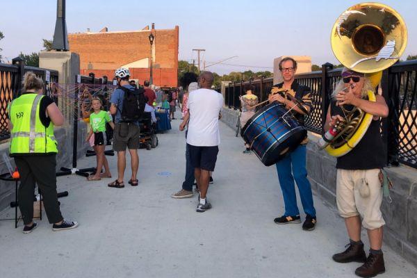 Scene from Bridgefest in Minneapolis