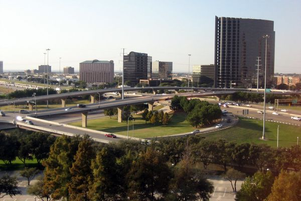 View of I-35 from the Hilton Dallas Lincoln Centre
