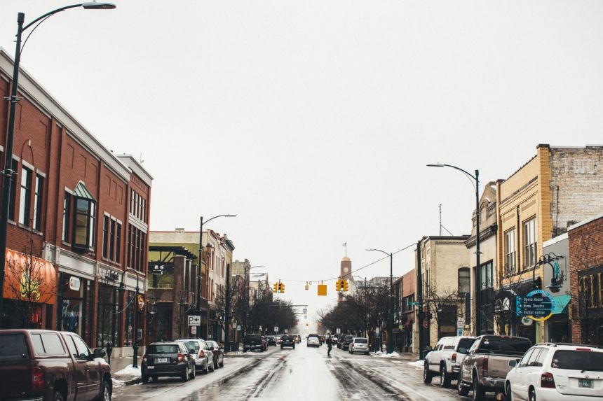 Downtown Views of Michigan Cities and Towns