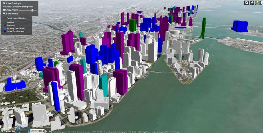 Interactive Map Plays With Miami Skyline